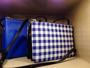 Celine Cobalt Blue/Blue Gingham Trio Small Bags - Fall 2014