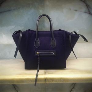Celine Dark Blue Felt Phantom Bag - Fall 2014