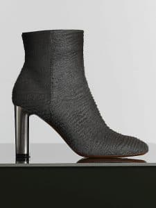 Celine Grey Astrakhan Stamped Pony Calfskin Bam Bam Ankle Boot - Winter 2014