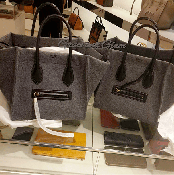 celine luggage tote bag price - Celine Felt Bags for Fall 2014 available in Mini Luggage, Phantom ...