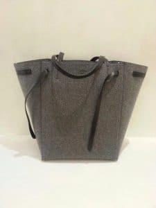 Celine Grey Felt Phantom Tote Bag - Fall 2014