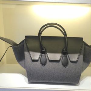 Celine Grey Felt Tie Tote Bag - Fall 2014