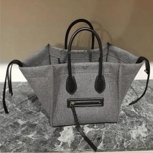Celine Grey Felt Phantom Bag - Fall 2014