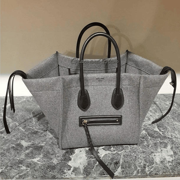 c4bd00b0e748 Celine Grey Felt Phantom Bag - Fall 2014. IG  gandg gandg