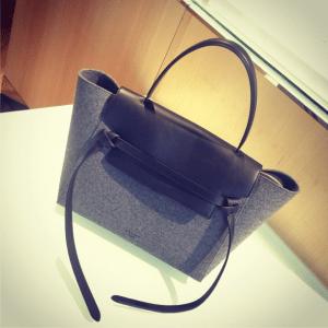 Celine Grey/Black Felt Belt Tote Bag - Fall 2014
