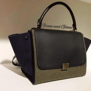 Celine Grey/Violet/Black Trapeze Bag 2 - Fall 2014