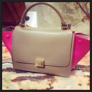 Celine Mini Trapeze Bag with Pink Suede Wings - Fall Winter 2014