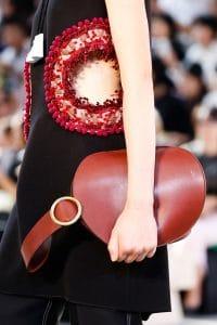 Celine Red Bell Shape Clutch Bag - Spring 2015