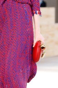 Celine Red Round Clutch Bag - Spring 2015