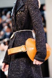 Celine Tan Crocodile Bell Shape Clutch Bag - Spring 2015