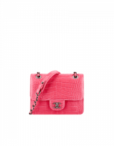 Chanel Alligator/Calfskin Pink Mini Flap Bag - Fall 2014 Act 2