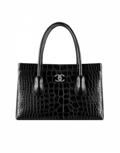 Chanel Black Alligator Shopping Tote Bag - Fall 2014 Act 2