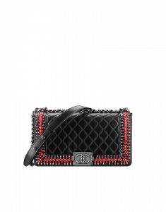 Chanel Black Boy Chanel Embroideries Medium Flap Bag - Fall 2014 Act 2