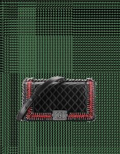 Chanel Black Boy Chanel Embroideries Medium Flap Bag - Fall 2014 Act 2
