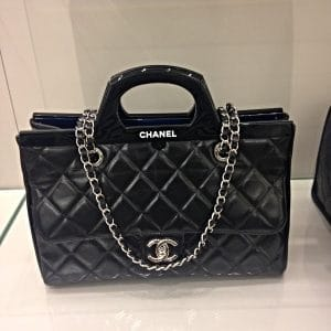 Chanel Black CC Delivery Shopping Tote Small Bag