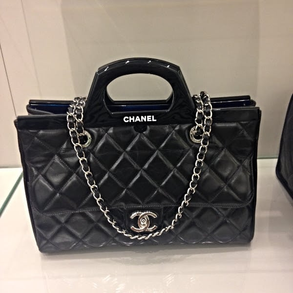 """Chanel CC Deliver Small Shopping Tote Bag $4,700.00 (USD) 9.1"""" H x ... Chanel Flap Bag 2014"""