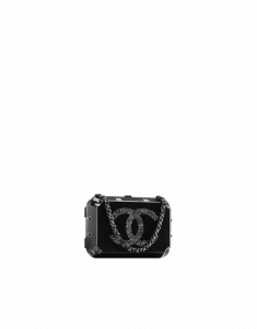 Chanel Black Grocery By Chanel Jewelry Box Clutch Bag - Fall 2014 Act 2