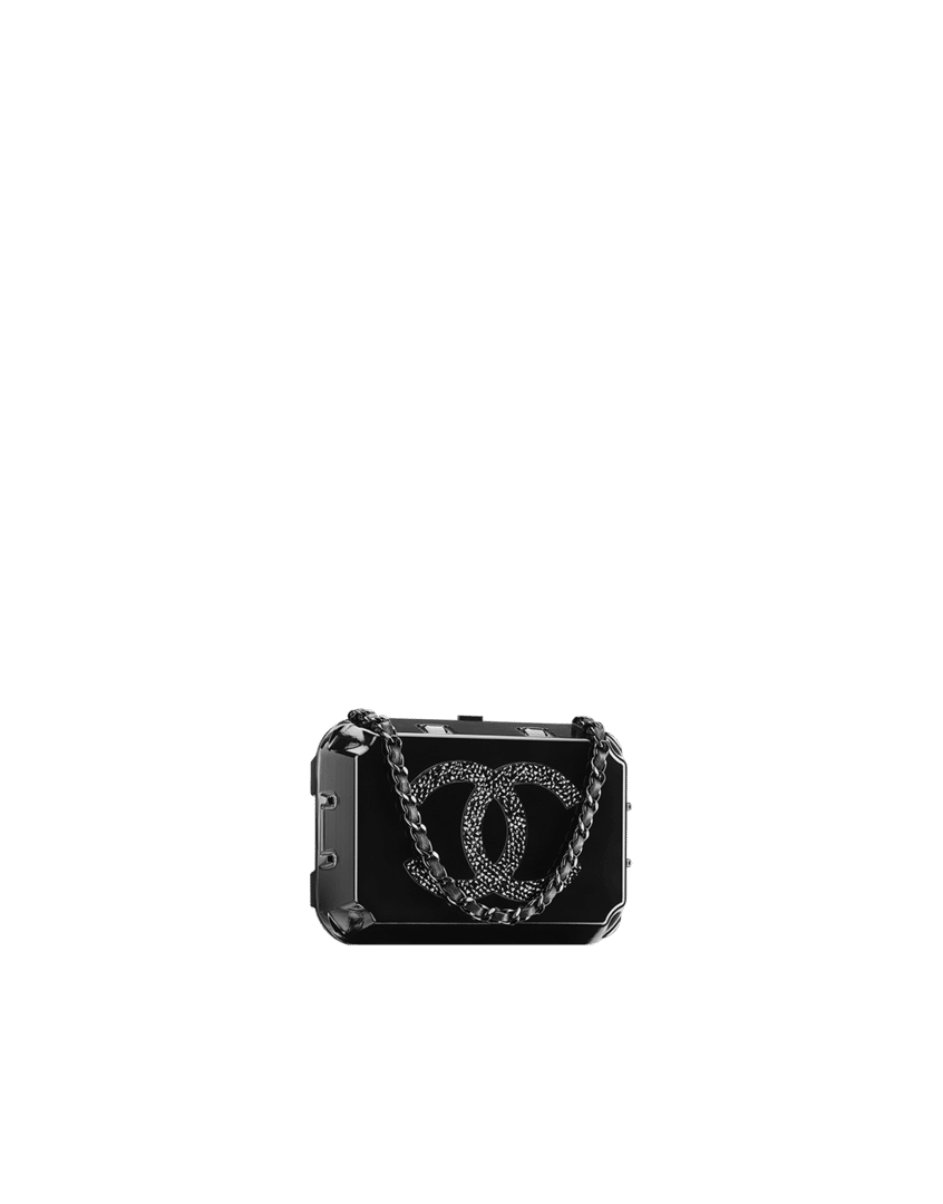 61378d752083 Chanel Black Grocery By Chanel Jewelry Box Clutch Bag - Fall 2014 Act 2