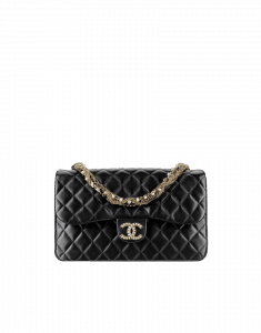 Chanel Black Westminster Pearls Medium Flap Bag - Fall 2014 Act 2