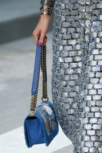 Chanel Blue Denim Patchwork Boy Bag - Spring 2015