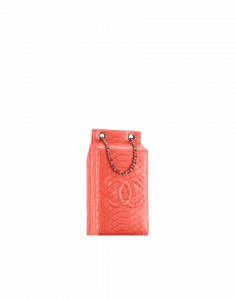 Chanel Coral Python Grocery By Chanel Milk Carton Bag - Fall 2014 Act 2