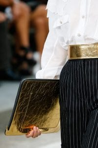 Chanel Gold Oversized Clutch Bag - Spring 2015
