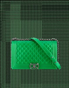 Chanel Green Boy Flap Large Bag - Fall 2014 Act 2