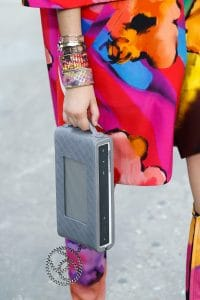 Chanel Grey Quilted Clutch Bag with Speakers 3 - Spring 2015
