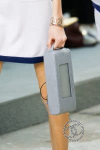 Chanel Grey Quilted Clutch Bag with Speakers 4 - Spring 2015