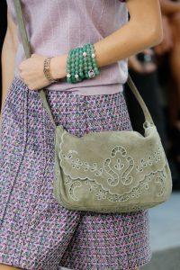 Chanel Khaki Floral Suede Messenger Bag - Spring 2015