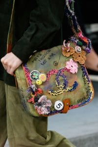 Chanel Khaki Tie Dye Graffiti Messenger Bag 2 - Spring 2015