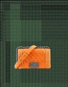 Chanel Orange Boy Flap Small Bag - Fall 2014 Act 2