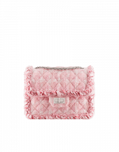 Chanel Pink Tweed Classics in Fabric Mini Flap Bag - Fall 2014 Act 2