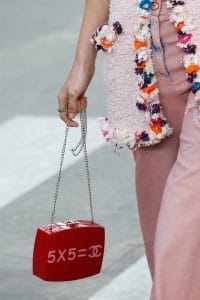 Chanel Red Chain Crossbody Bag - Spring 2015