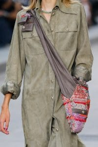 Chanel Red/Purple Tweed/Leather Messenger Bag - Spring 2015