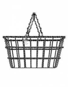 Chanel Silver Grocery By Chanel Basket Bag - Fall 2014 Act 2