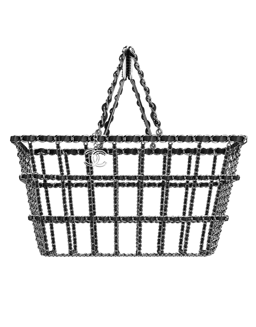 Chanel Silver Grocery By Basket Bag Fall 2017 Act 2