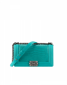 Chanel Tuquoise Alligator Boy Flap Medium Bag - Fall 2014 Act 2
