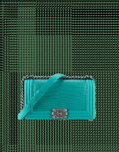 Chanel Tuquoise Alligator Boy Flap Medium Bag - Fall 2014 Act 2