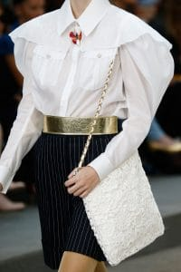 Chanel White Floral Embroidered Shoulder Bag - Spring 2015
