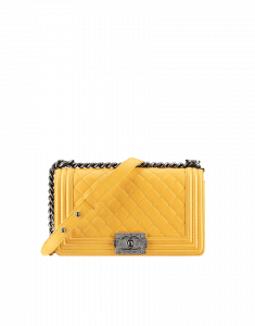 Chanel Yellow Boy Flap Medium Bag - Fall 2014 Act 2