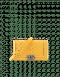 Chanel Yellow Boy Flap Medium Bag - Fall 2014 Act 2