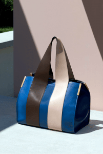 Chloe Blue/Brown/Beige Shoulder Bag - Spring 2015