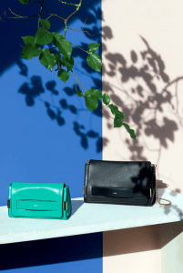 Chloe Black/Turquoise Elle Clutch Bags with Shoulder Strap - Spring 2015