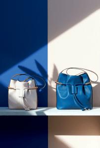 Chloe Ivory/Blue Emma Drawstring Bag - Spring 2015