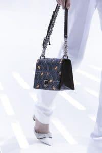 Dior Black Cannage/Floral Flap Bag - Spring 2015