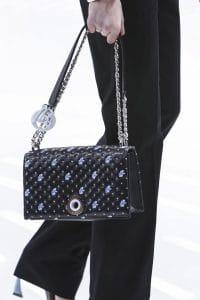 Dior Black/Blue Floral Flap Bag - Spring 2015