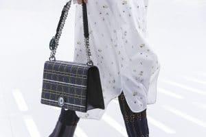 Dior Black/Silver Cannage Flap Bag - Spring 2015