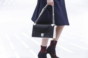 Dior Black/White Python Flap Bag - Spring 2015