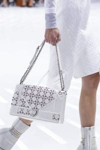 Dior White/Red Cannage Flap Bag - Spring 2015